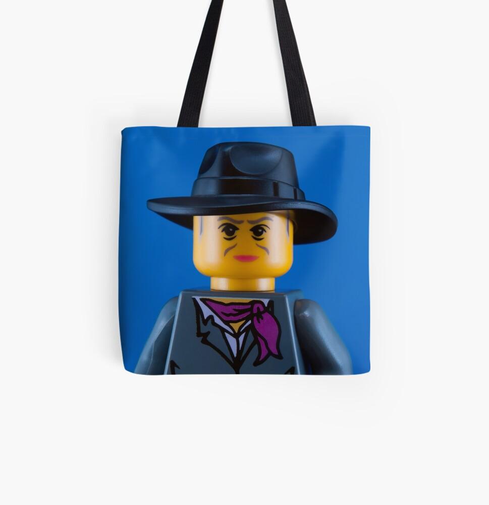 Quentin Crisp Portrait All Over Print Tote Bag