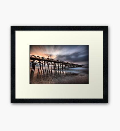 Early Morning at the Pier Framed Print