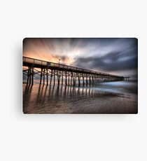 Early Morning at the Pier Canvas Print