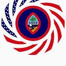 Guamanian American Multinational Patriot Flag Series by Carbon-Fibre Media