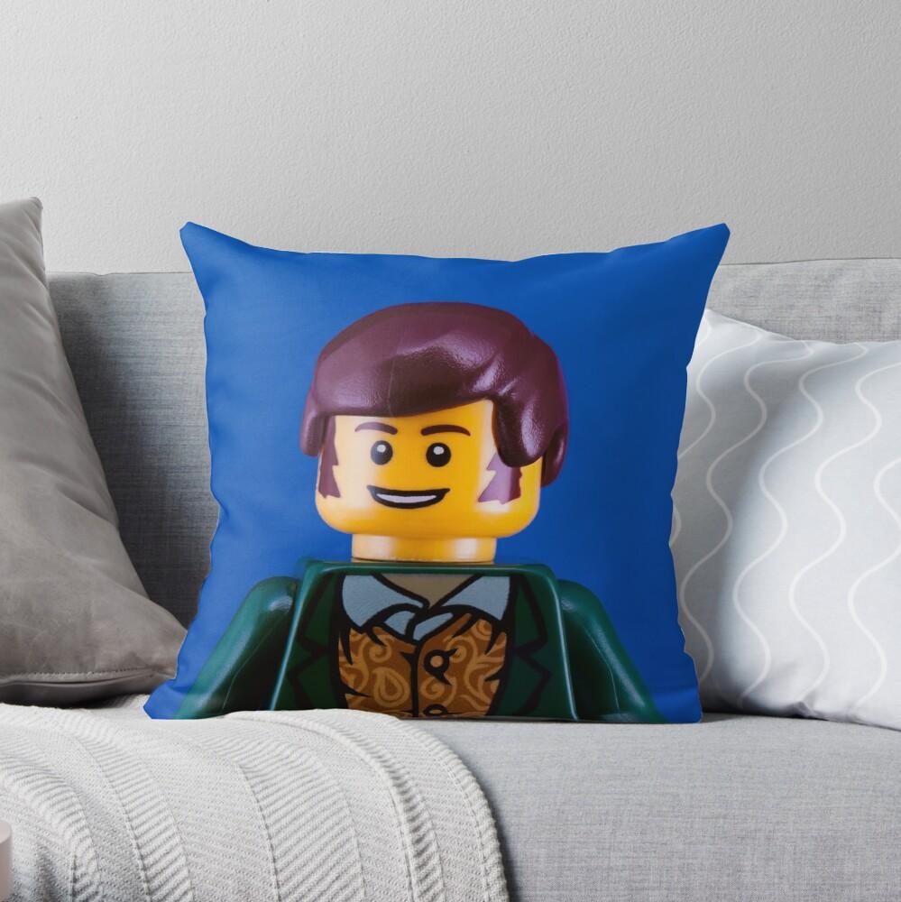 Robbie Burns Portrait Throw Pillow