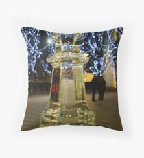 London Ice Sculpting Festival 2013 Throw Pillow
