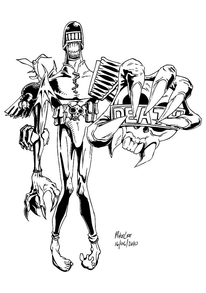 Judge Death - Inks by Michael Lee