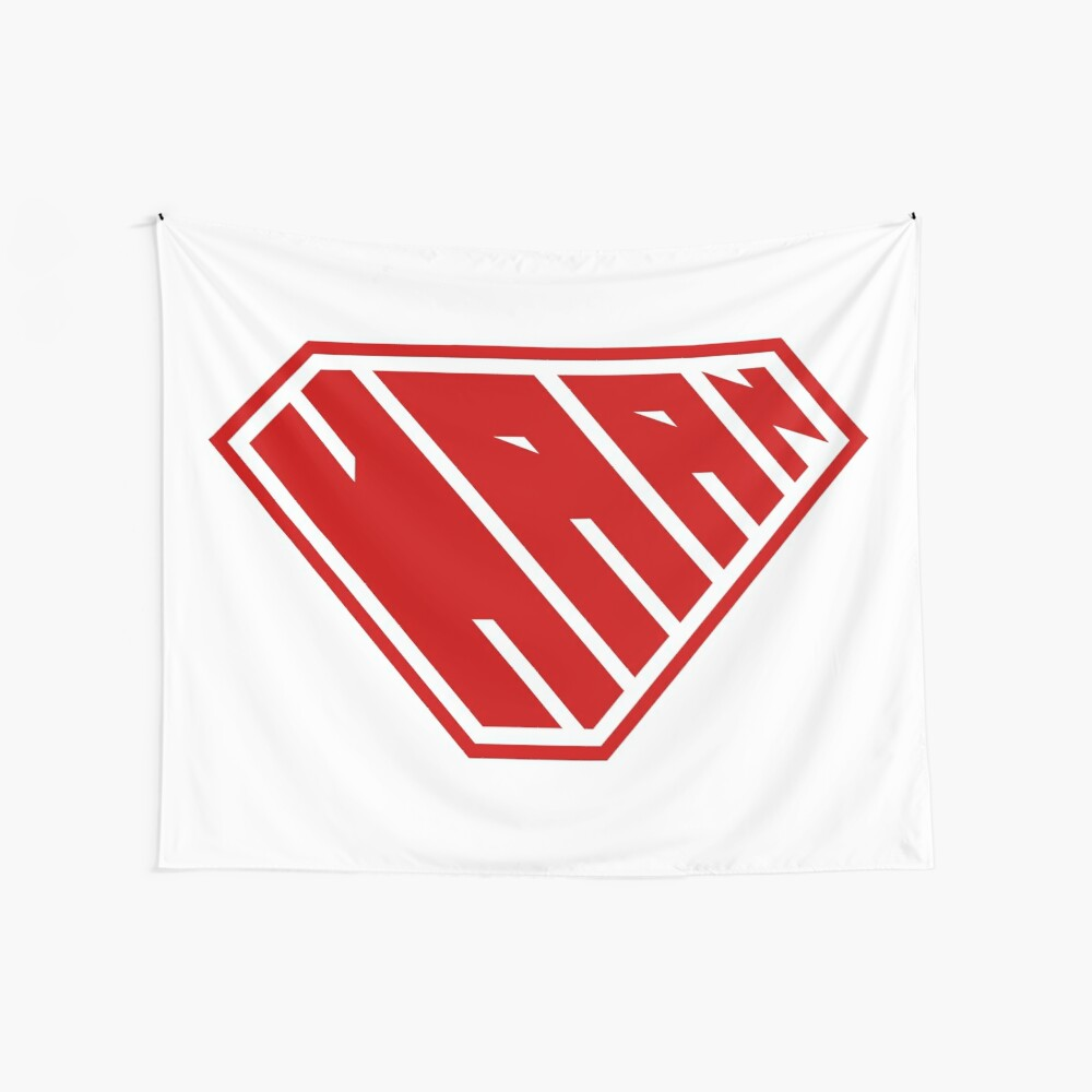 Haan SuperEmpowered (Red) Wall Tapestry