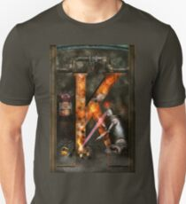 Steampunk - Alphabet - K is for Killer Robots T-Shirt