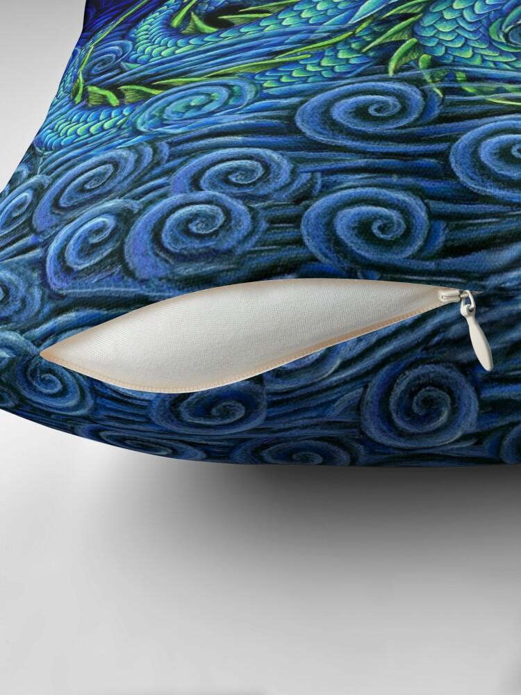 Alternate view of Chinese Azure Dragon Throw Pillow