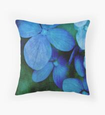 Hydrangea Blues Throw Pillow