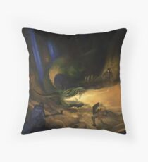Dragon Warriors Bestiary Throw Pillow
