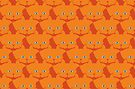 Solid Bright Orange Cat Cattern [Cat Pattern] by Brent Pruitt