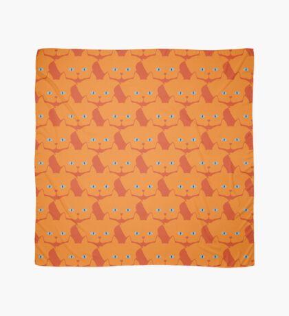 Solid Bright Orange Cat Cattern [Cat Pattern] Scarf