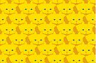 Solid Yellow Cat Cattern [Cat Pattern] by Brent Pruitt