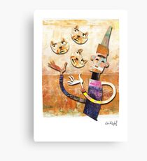 Cat Juggler Canvas Print