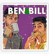 Ben & Bill - Hot Dogs and Coffee Sticker