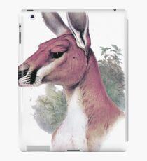Red kangaroo portrait iPad Case/Skin