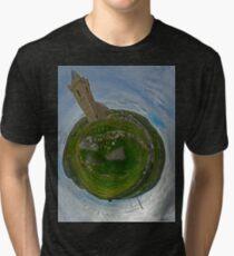 Glencolmcille Church - Sky Out Tri-blend T-Shirt