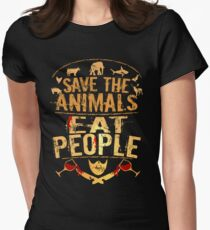 save the animals, EAT PEOPLE (5) T-Shirt