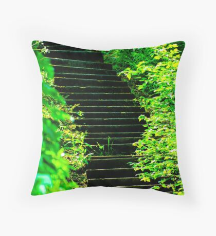 Sunny steps in Scarborough Throw Pillow