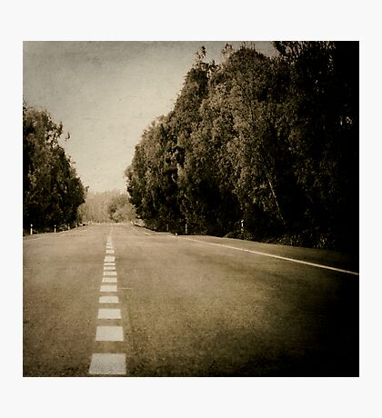 line of road Photographic Print