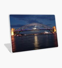 Moon rise over Sydney Laptop Skin