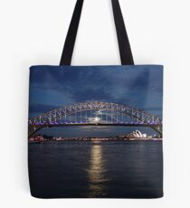 Moon rise over Sydney Tote Bag