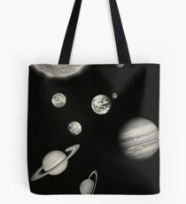 Black and White Solar System Tasche