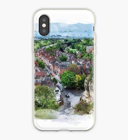 Nottingham city watercolor  iPhone Case