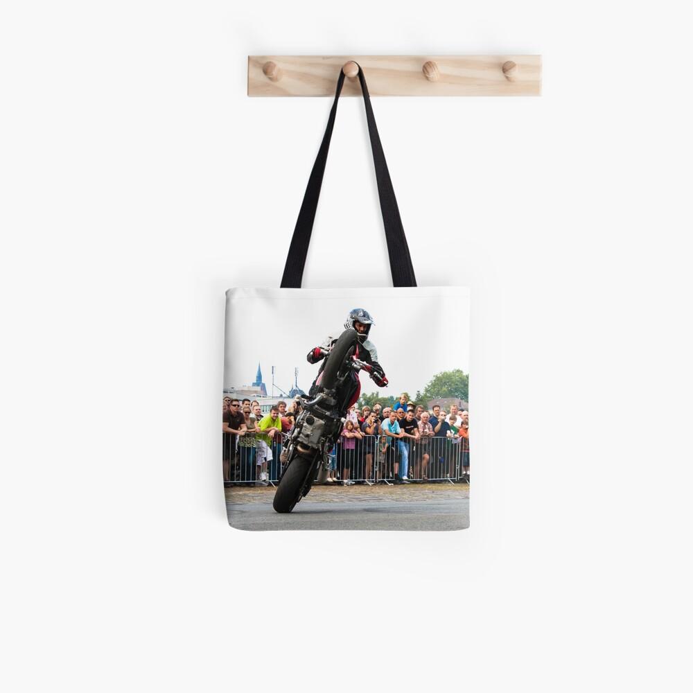 motorcycle stunt 007 Tote Bag