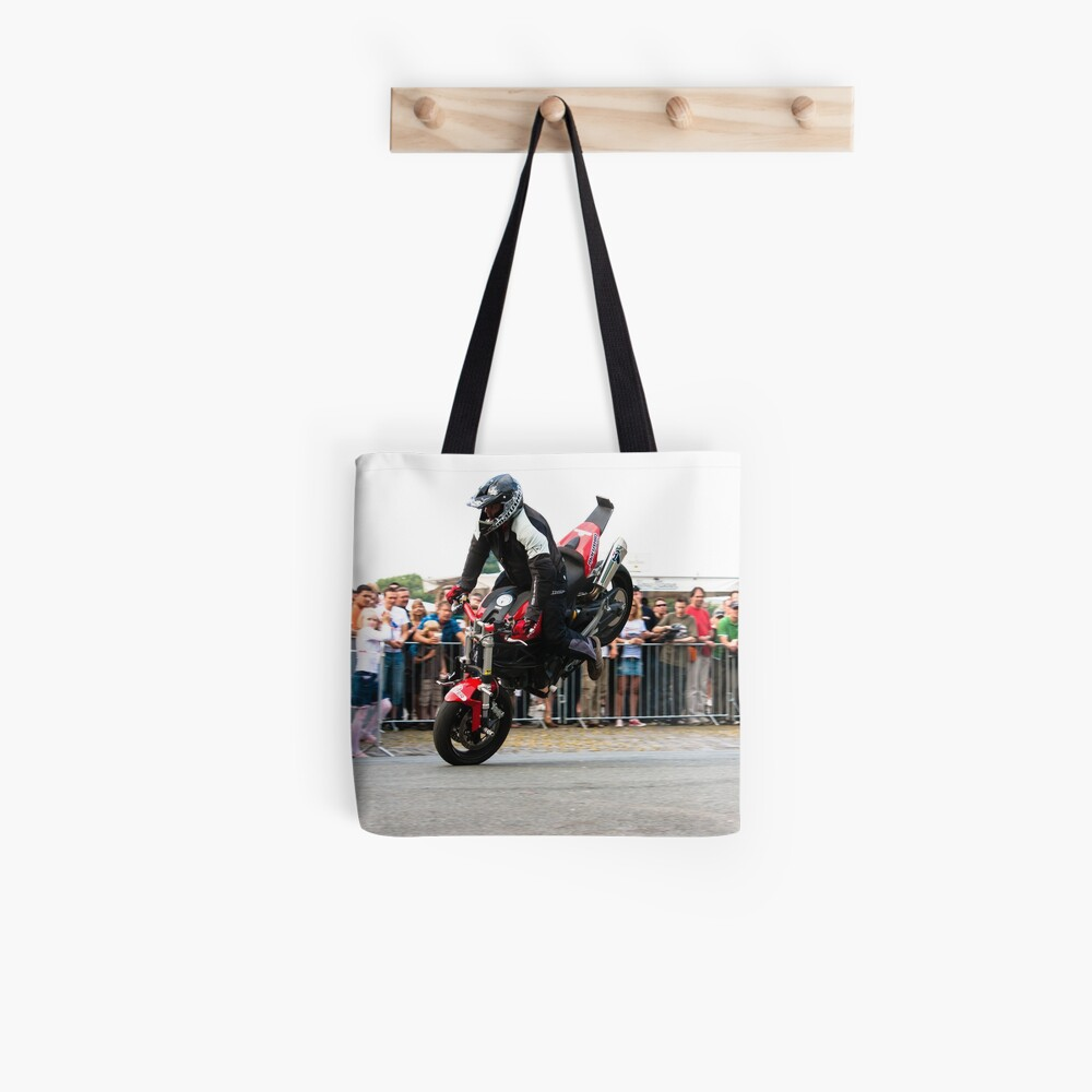 motorcycle stunt 004 Tote Bag
