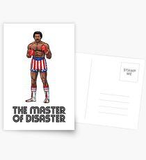 Apollo Creed - Der Meister der Katastrophe inspirierte Charakterkunst - Rocky 1976 Postkarten