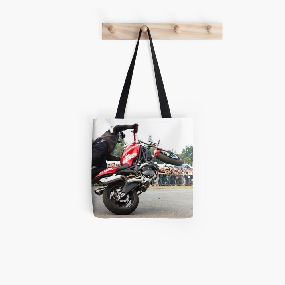 motorcycle stunt 008 Tote Bag