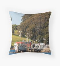 Jetty on Bluewater Drive, Narooma Throw Pillow