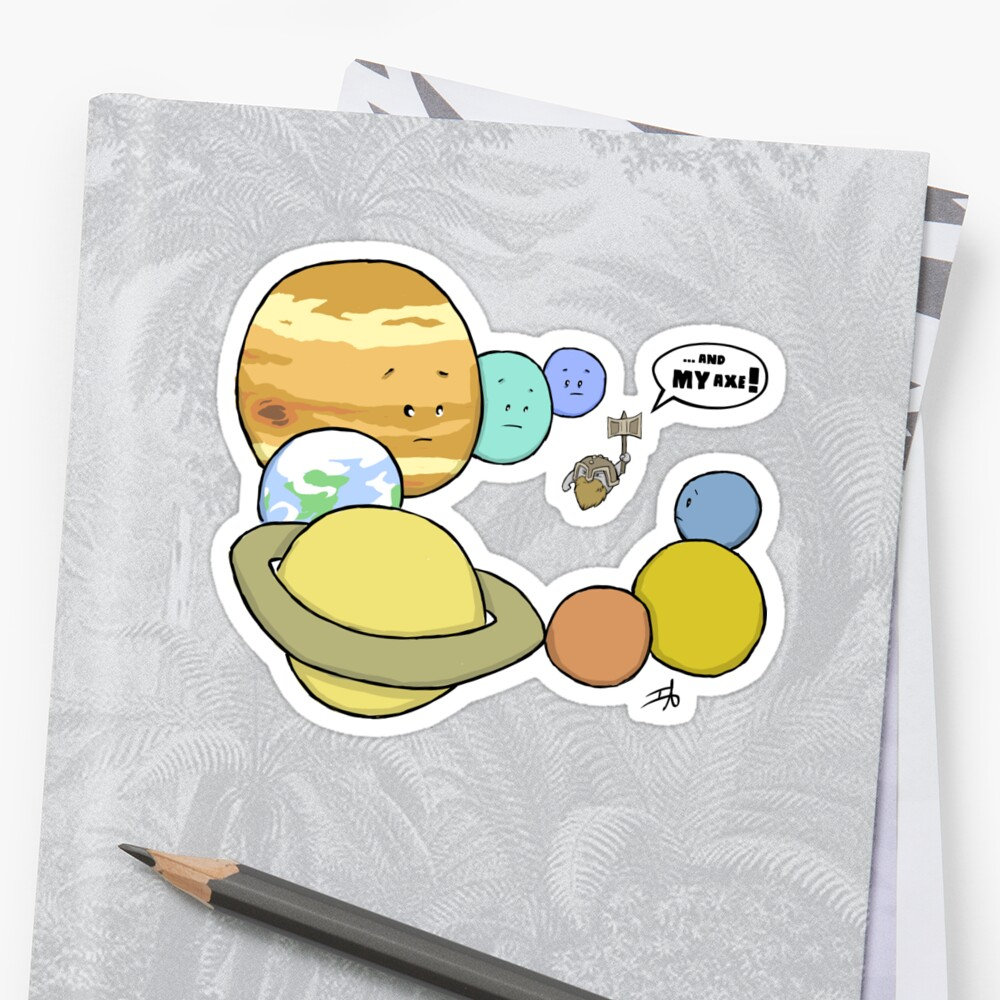 Zwergplanet Sticker