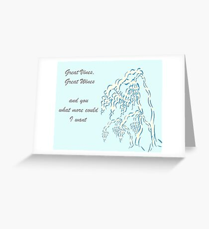 Vines, Wines & U Greeting Card