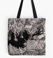 'Morphic Resonator'- pencil collaborative work Tote Bag
