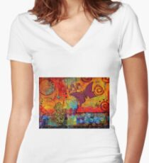 Freedom to CREATE Whatever I Want Women's Fitted V-Neck T-Shirt