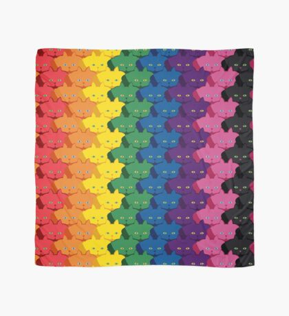 Rainbow Vertical Stripe Cattern [Cat Pattern] Scarf