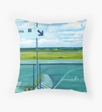 Accèss avions/To planes Throw Pillow