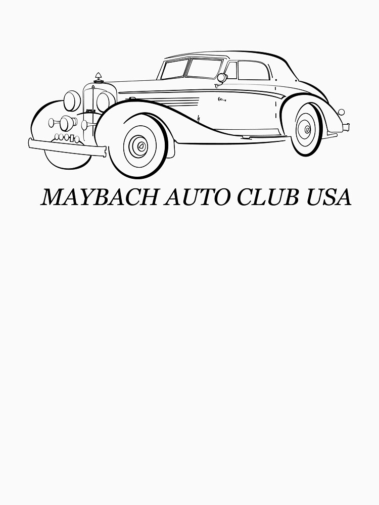 1934 Maybach Zepplin For Macusa T Shirt By Petrix31