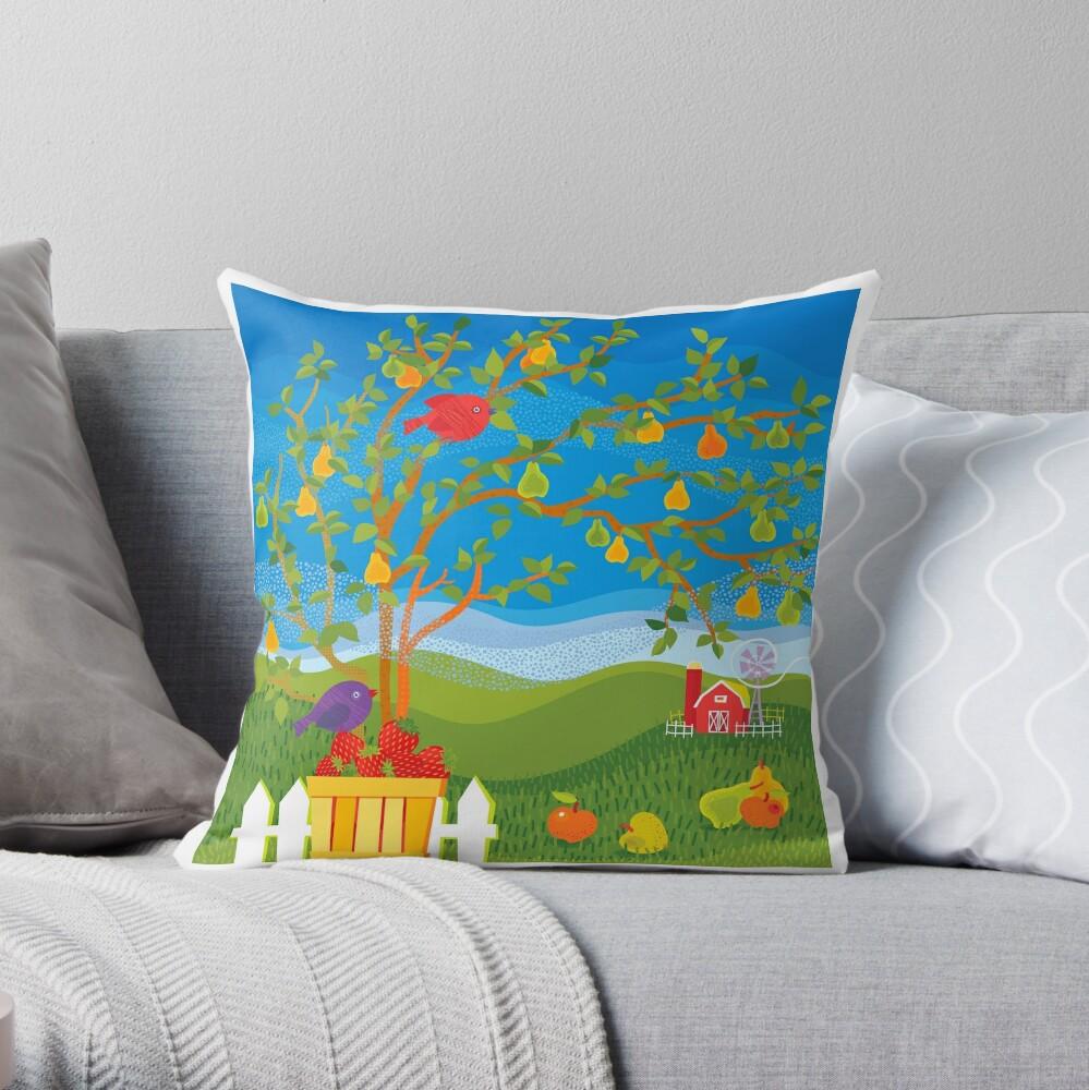 Summer Farm Throw Pillow