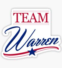 Team Warren 2020 Sticker