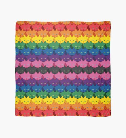 Rainbow Horizontal Stripe Cattern [Cat Pattern] Scarf