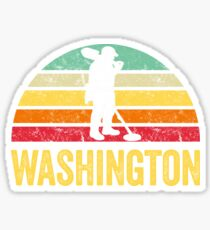 Washington Treasure Finding Apparel Metal Detecting Gift Sticker