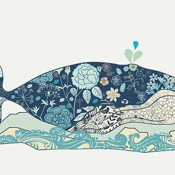 a blue whale by whatmilk