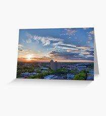 Capital City Sunset Greeting Card