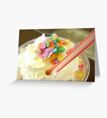 Cupcake mocha drink Greeting Card