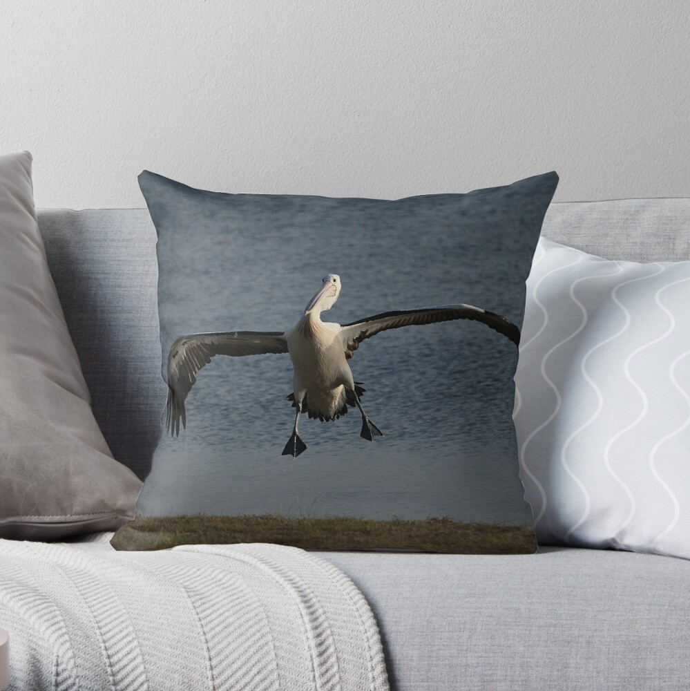 Coming in for a landing... Throw Pillow