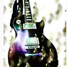 Graphic Guitar and Music Notes Print by SimplyMary