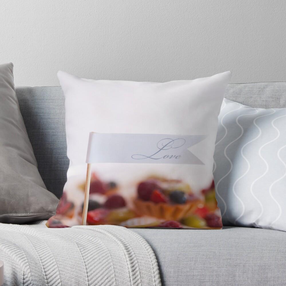 .fruit tart. Throw Pillow