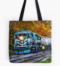 Train in Fall Tote Bag