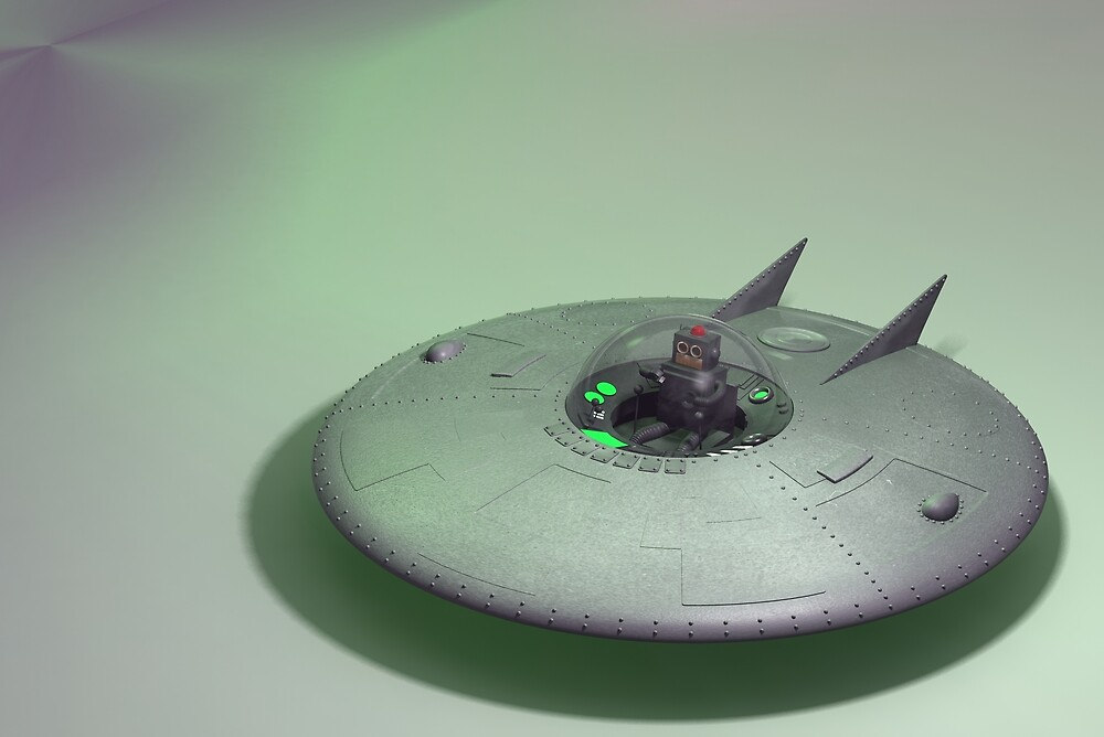 Toy Robo Saucer by mdkgraphics
